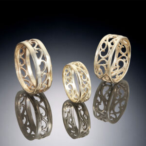 Open Filigree Bands