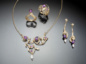 Amethyst Composition in 14K Gold