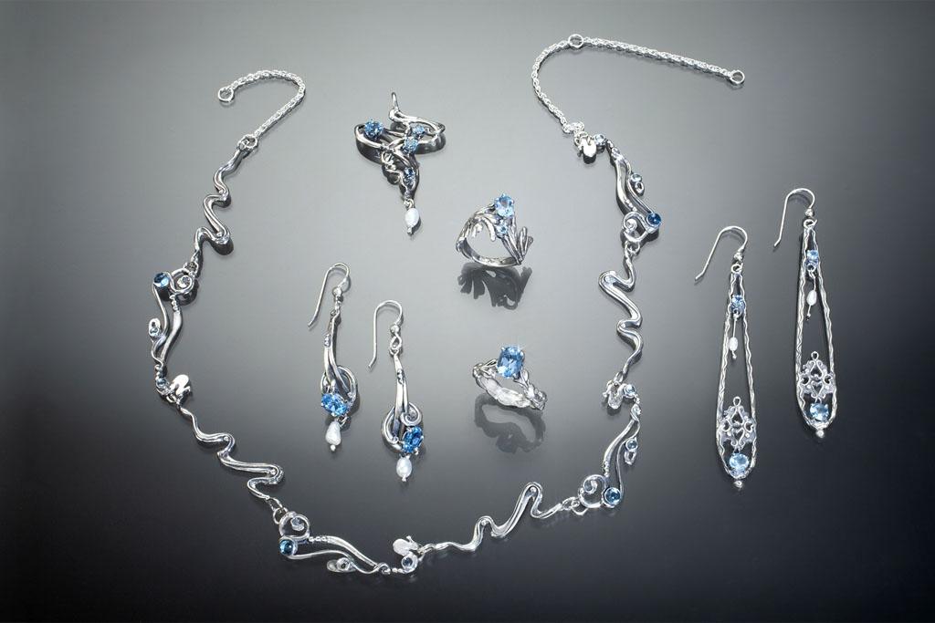 blue-topaz jewelry silver